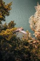 Luftaufnahme des Bootsstegs foto