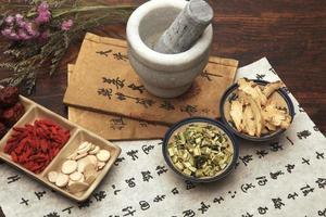 chinesische Kräutermedizin foto