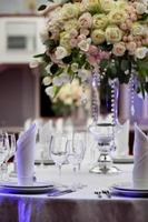 Abendessen Hochzeit Tischdekoration foto