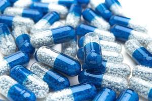 Pillen und Tabletten, die medizinischen Mittel, Makro.