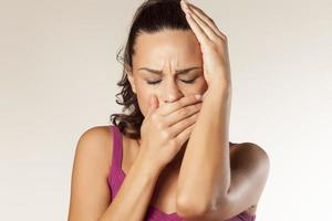Zahnschmerzen und Kopfschmerzen foto