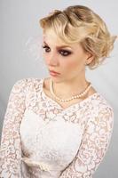 perfekte Blondine foto