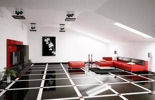Penthouse Interieur 3d rendern foto