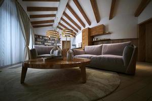 Wohnzimmer in einem modernen Stil foto