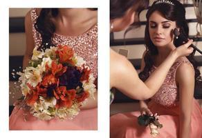 Doppelfoto vom Hochzeitsalbum foto