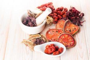 Zutaten für chinesische Kräutersuppe foto