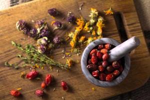 Beeren und Kräuter