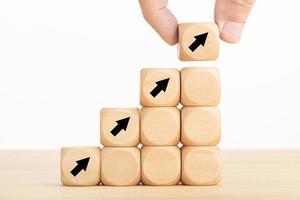 Konzept des Geschäftswachstumsprozesses foto