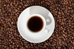 Draufsicht auf Espressokaffeetasse