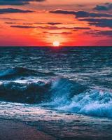 Blick auf den Ozean foto