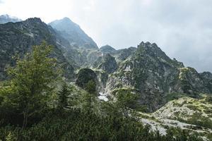 Blick auf die felsigen Berge foto