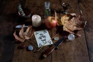 Wicca-Altar für den Herbst