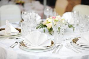 Tischset für eine Eventparty foto