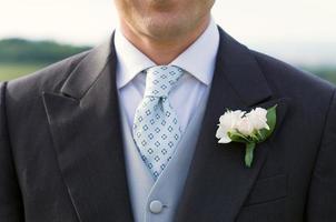 Nahaufnahme eines Bräutigams foto