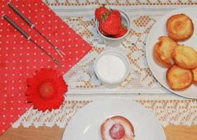 englischer Pudding foto