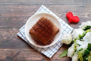 hausgemachte Schokoladen Brownies foto