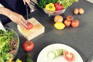 Hausmannskost schneiden Gemüse