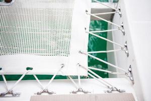 Netz zum Auflegen auf die Yacht foto