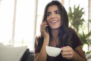 Nach dem Aufwachen braucht man leckeren Kaffee foto