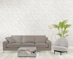 3D Loft Wohnzimmer