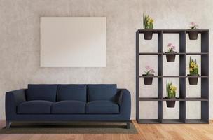 modernes 3D-Wohnzimmer