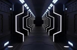 schwarzes Raumschiff Interieur