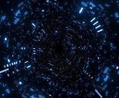 futuristisches Tunnelraumschiff