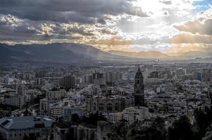 Stadtbild von Malaga foto