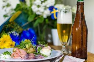 schwedisches Lachsessen foto