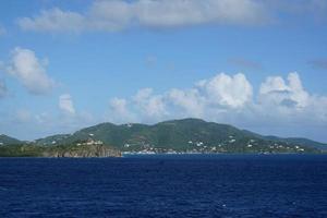 Blick auf die britischen Jungferninseln