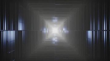 dunkler Würfeltunnel 4k uhd 3D-Rendering