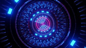 Sci-Fi Neon Gateway 3D Illustration Hintergrund