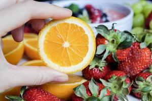 geschnittene Orangenfrucht