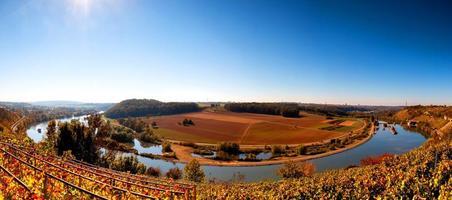 Panoramablick auf den Neckar in Deutschland