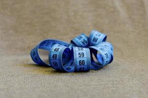 Blue Tape Measurer foto