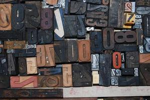 Buchstaben und Schriftarten