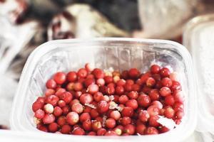 gefrorene rote Beeren foto