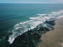 Luftaufnahme des Strandes