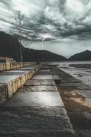 Schweiz an einem stürmischen Tag