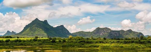 Panorama der Berglandschaft in Thailand foto
