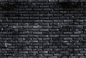 schwarze Backsteinmauer foto