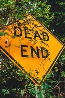 Sackgasse Straßenschild foto