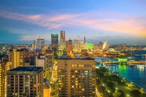 Skyline der Stadt Yokohama