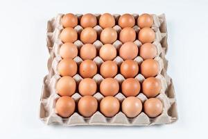 braune Eier im Karton