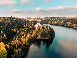 bunte Herbstbäume in Schweden foto