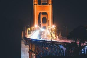 Zeitrafferfoto der Golden Gate Bridge in San Francisco foto