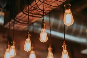 Nahaufnahme von Edison Lights