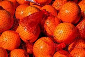 Orangen auf dem Markt foto