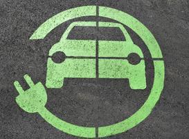 Verkehrsschild für elektrische Ladung