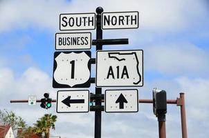 a1a Straßenschild in Florida